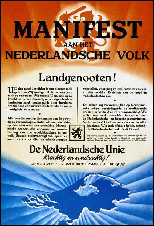 Manifest  Nederlandsche Unie