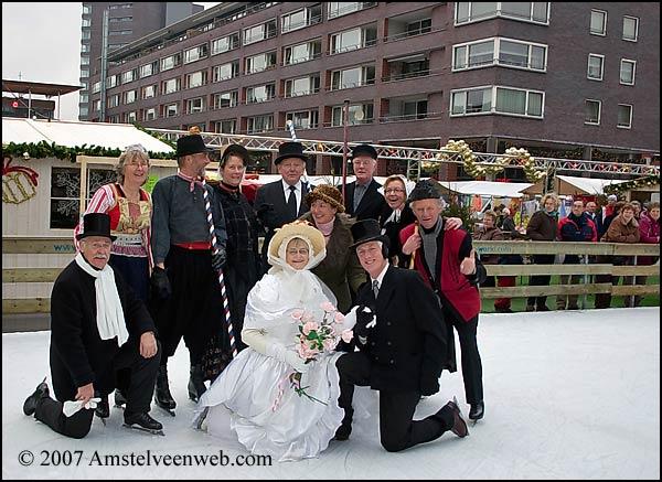 Oud Hollands bruiloftsfeest op het ijs
