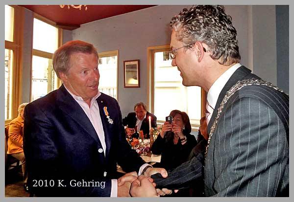 Kees Gehring ontvangt  Koninklijke Onderscheiding