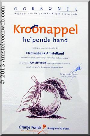Kroonappel voor Kledingbank