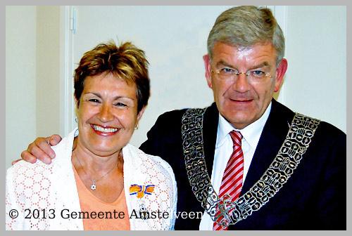 Mevrouw Sasja Martel ontvangt  Koninklijke Onderscheiding