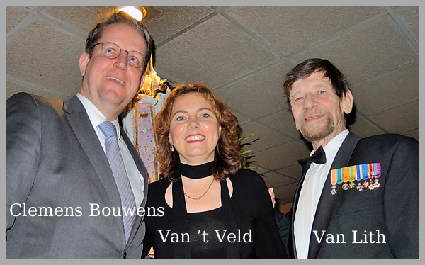 Willem van Lith ontvangt  Zilveren Erepenning