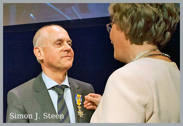 Simon Steen ontvangt  Koninklijke Onderscheiding