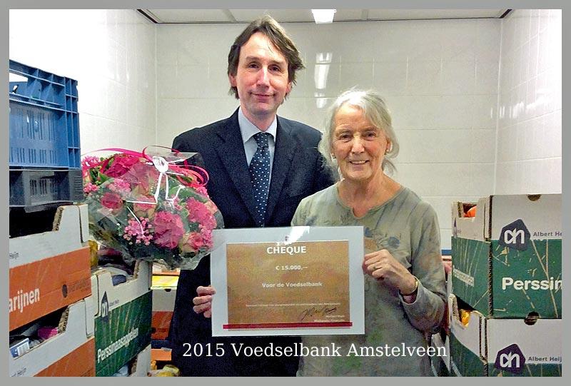 Voedselbank ontvangt € 15.000