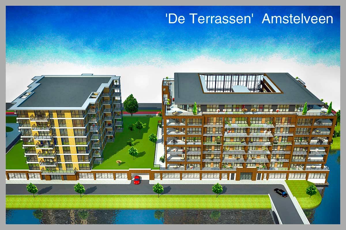 Nieuws de eerste paal van het bouwproject de terrassen amstelveen - Afbeeldingen van terrassen verwachten ...