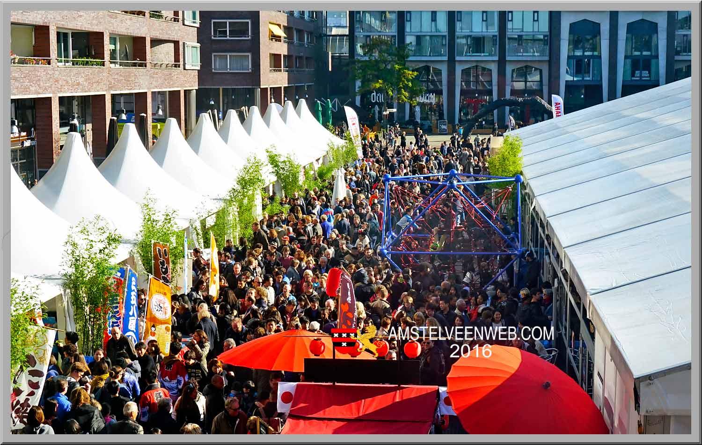 Nieuws: Zeer-druk-Japan-Festival-2016-op-het-Stadsplein-, Amstelveen