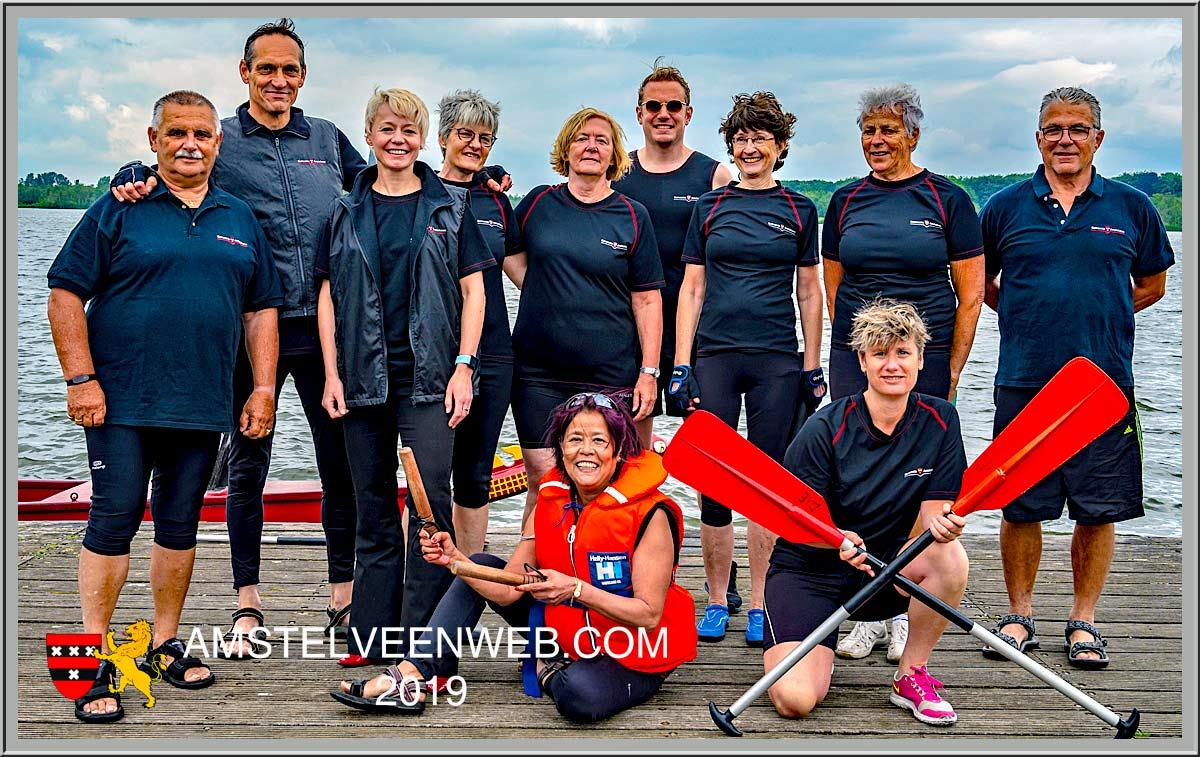 Drakenbootrace 2019op de Poel